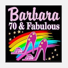 70TH PARTY GIRL Tile Coaster