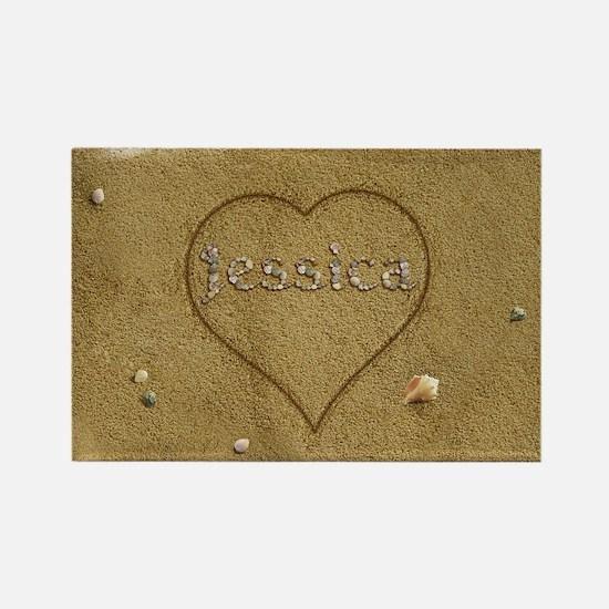 Jessica Beach Love Rectangle Magnet