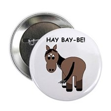 """Hay Bay-Be! Horse 2.25"""" Button (100 pack)"""