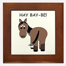 Hay Bay-Be! Horse Framed Tile