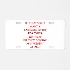 lacrosse Aluminum License Plate