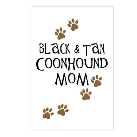 Black & Tan Coonhound Mom Postcards (Package of 8)