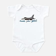 Cool Yer Jets - blue Infant Bodysuit