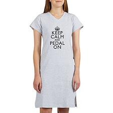 Keep Calm Pedal On Women's Nightshirt