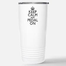 Keep Calm Pedal On Stainless Steel Travel Mug