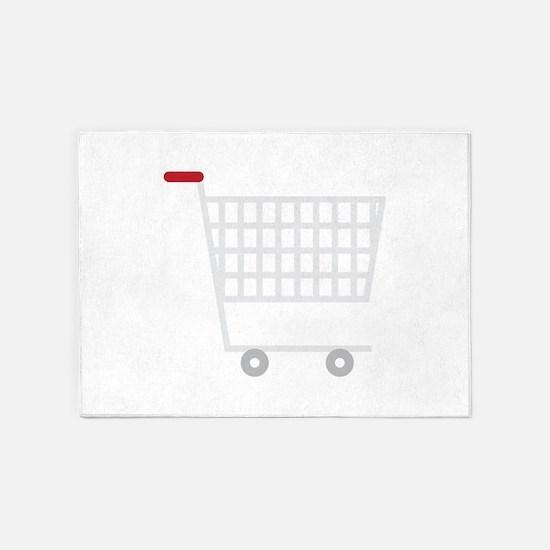 Shopping Cart 5'x7'Area Rug