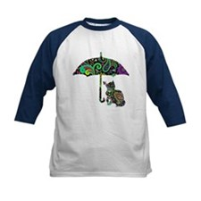 Paisley umbrella cat and butterfly Baseball Jersey