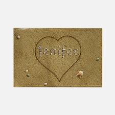 Jenifer Beach Love Rectangle Magnet