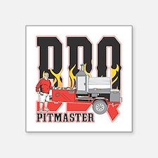 "BBQ Pit master Square Sticker 3"" x 3"""