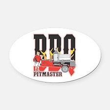 BBQ Pit master Oval Car Magnet