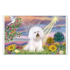 Cloud Angel & Bichon Frise Rectangle Decal