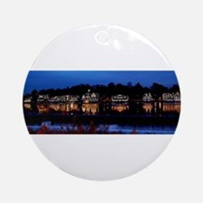 Boathouse Row at night Ornament (Round)