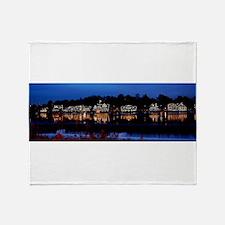 Boathouse Row at night Throw Blanket