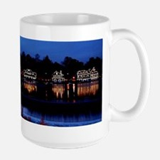 Boathouse Row at night Mugs