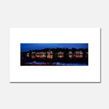 Boathouse Row at night Car Magnet 20 x 12