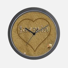 Jazmin Beach Love Wall Clock