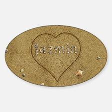 Jazmin Beach Love Sticker (Oval)