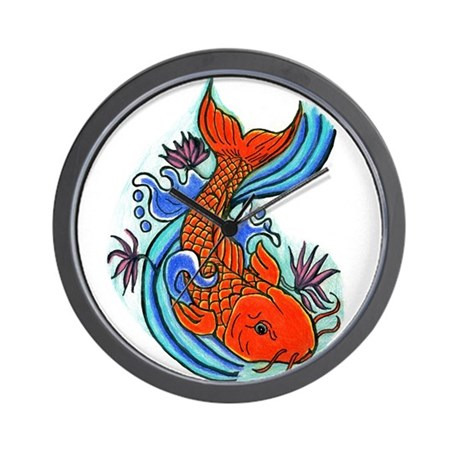 Koi fish wall clock by ardrasart for Fish wall clock