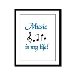 Music is my life Framed Panel Print