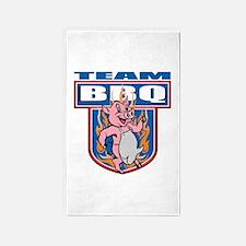 Team Pork BBQ Area Rug