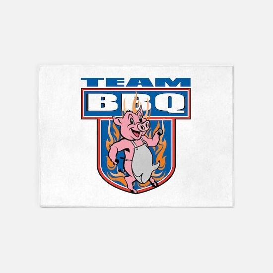 Team Pork BBQ 5'x7'Area Rug