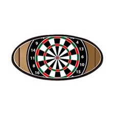 Darts Board On Wooden Background Patch