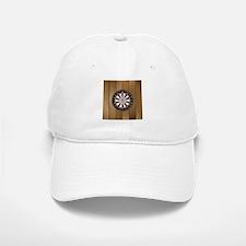 Darts Board On Wooden Background Baseball Baseball Baseball Cap