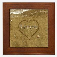 Javon Beach Love Framed Tile
