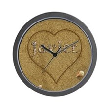 Javier Beach Love Wall Clock