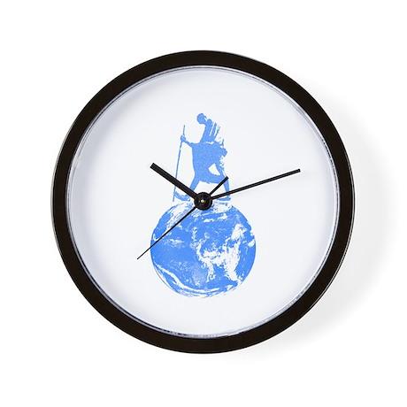 Gandhi on Gaia Wall Clock