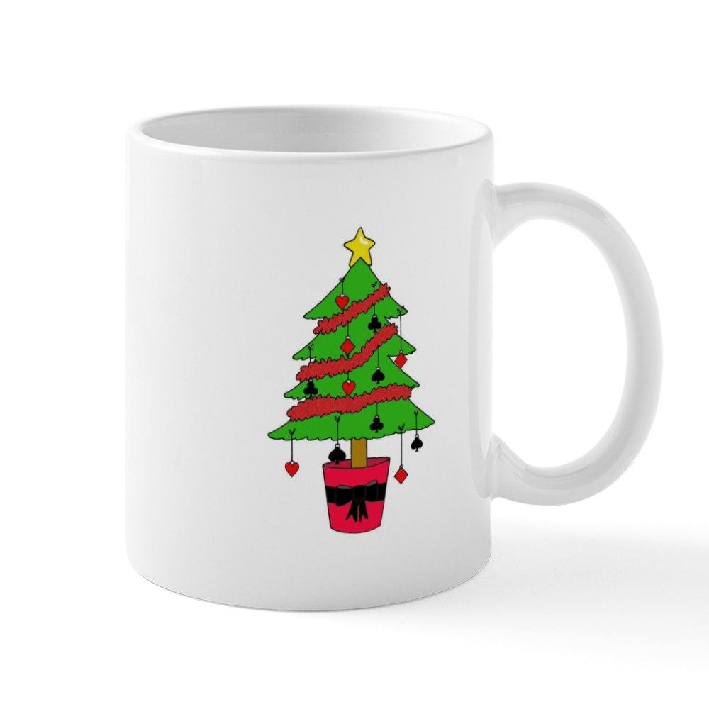 CafePress Card Game Christmas Tree Mugs