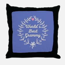 Grammy Gift (Worlds Best) Throw Pillow