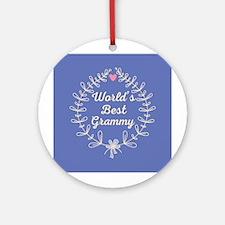 Grammy Gift (Worlds Best) Ornament (Round)