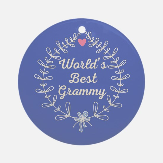 Grammy Gift (Worlds Best) Ornament (Round)