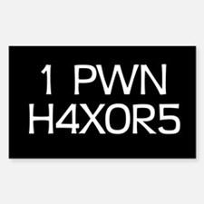 'H4X0R5' Rectangle Decal