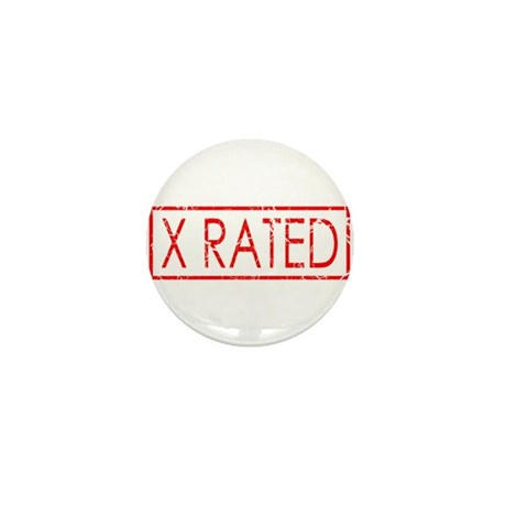 X Rated Mini Button (100 pack)