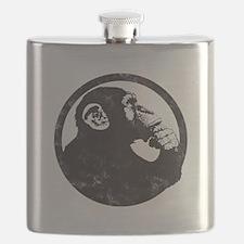 Thoughtful Monkey 2 - Black Flask