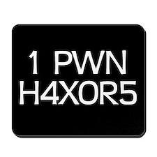'H4X0R5' Mousepad