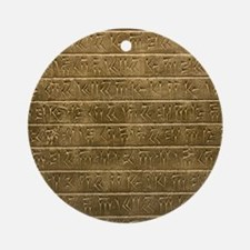 Hieroglyphics. Round Ornament