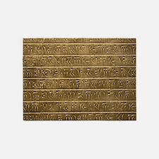 Hieroglyphics. 5'x7'Area Rug