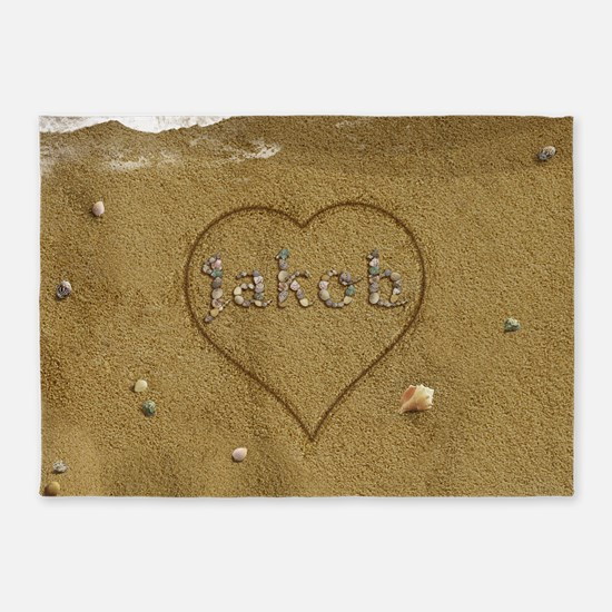 Jakob Beach Love 5'x7'Area Rug