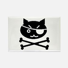 PIRATE CAT (BLK) Rectangle Magnet