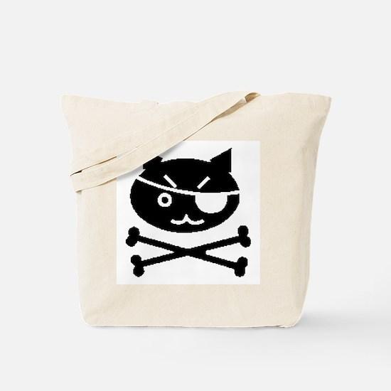 PIRATE CAT (BLK) Tote Bag