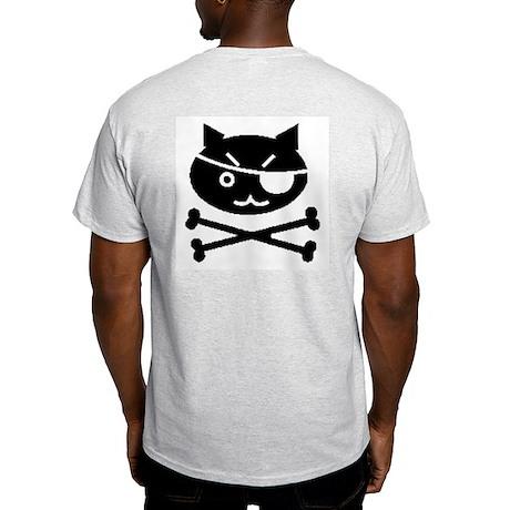 PIRATE CAT (BLK) Light T-Shirt