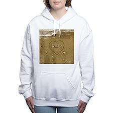 Jade Beach Love Women's Hooded Sweatshirt