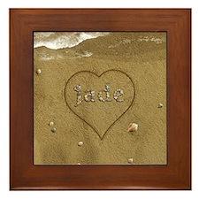 Jade Beach Love Framed Tile
