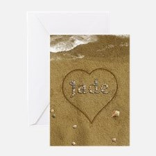 Jade Beach Love Greeting Card