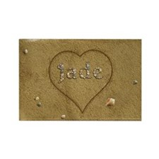 Jade Beach Love Rectangle Magnet