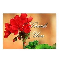 Thank you Geranium Postcards (Package of 8)