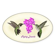Flying Jewels Oval Decal